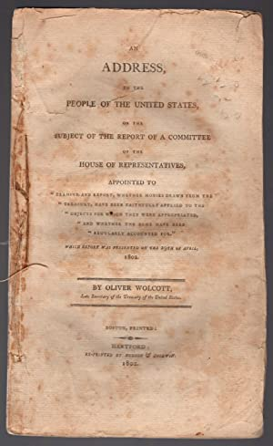 An address, to the people of the United States, on the subject of the report of a committee of the ...