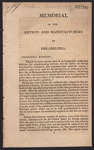 drop title] Memorial of the artists and manufacturers of Philadelphia.: Society of Artists and ...
