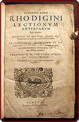 Lectionum antiquarum libri triginta .: Ricchieri, Lodovico.