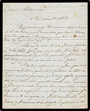 Autograph Letter Signed, in Spanish, on paper, to Abraham Miller.: Quesedo, Tomas.