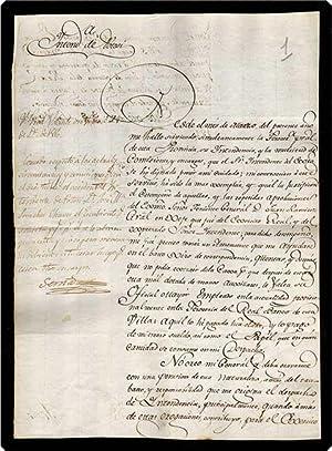 Autograph Letter Signed, in Spanish, on paper, to Jos? de la Serna.: S?nchez Ch?vez, Jos? Manuel.