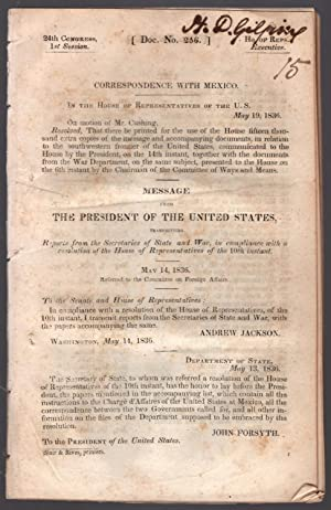 drop-title] Correspondence with Mexico. In the House of Representatives of the U. S.[,] May 19, ...