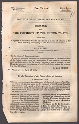 drop-title] Convention ? United States and Mexico. Message from the President of the United States,...