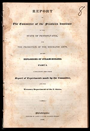 drop-title] Report of the Committee of the Franklin Institute of the state of Pennsylvania, for the...