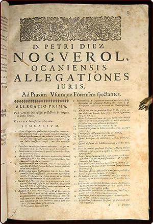 Allegationes juris, in quibus quamplurimae quaestiones summ? necessariae, in Supremae Hispaniarum ...