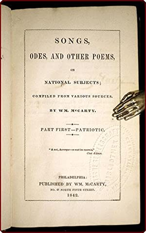Songs, odes, and other poems, on national subjects; compiled from various sources . Part first ? ...