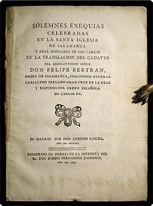 Solemnes exequias celebradas en la Santa Iglesia de Salamanca y Real Seminario de San Carlos en la ...