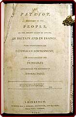 The patriot. Addressed to the people, on the present state of affairs in Britain and in France. ...