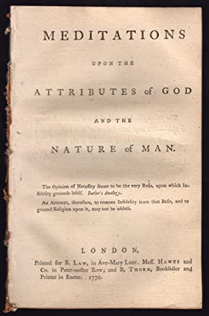 Meditations upon the attributes of God.