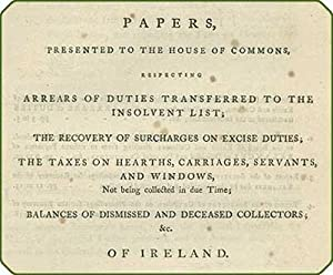 Papers, presented to the House of Commons, respecting arrears of duties transferred to the ...