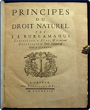 Principes du droit naturel.: Burlamaqui, Jean Jacques.