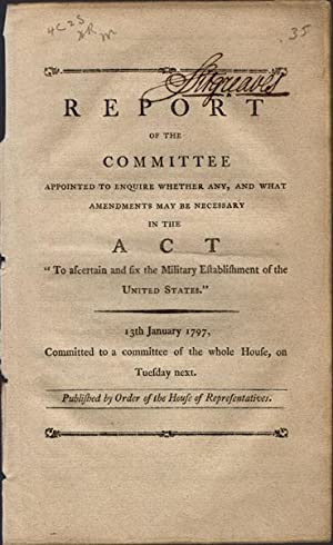 Report of the committee appointed to enquire whether any, and what amendments may be necessary in ...