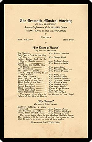drop-title] The Dramatic-Musical Society of San Francisco. Seventh performance of the 1922?1923 ...