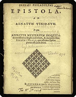 Irenaei Philadelphi Epistola, ad Renatum Veridaeum. In qua aperitur mysterium iniquitatis novissime...