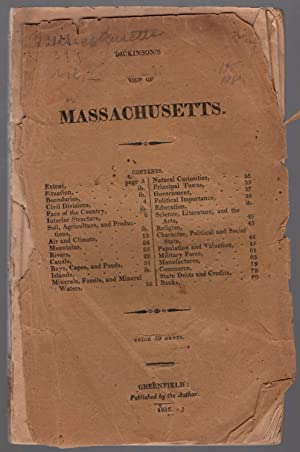 A geographical and statistical view of Massachusetts proper.: Dickinson, Rodolphus.