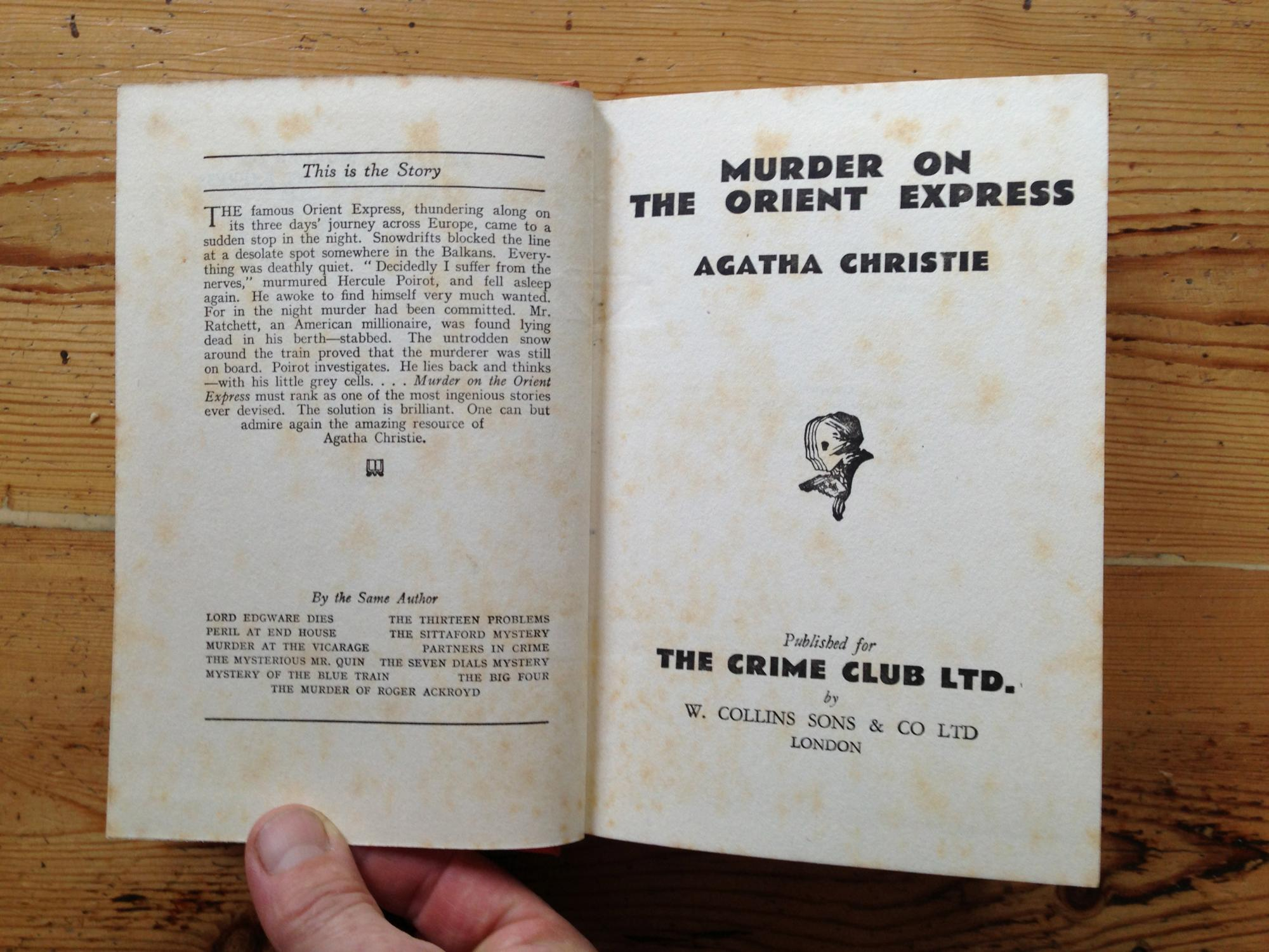 murder on the orient express by agatha christie pdf