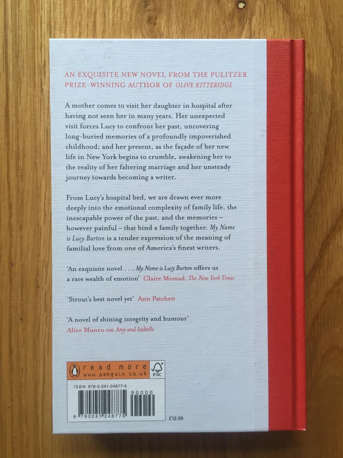 my name is lucy barton by elizabeth strout viking 9780241248775