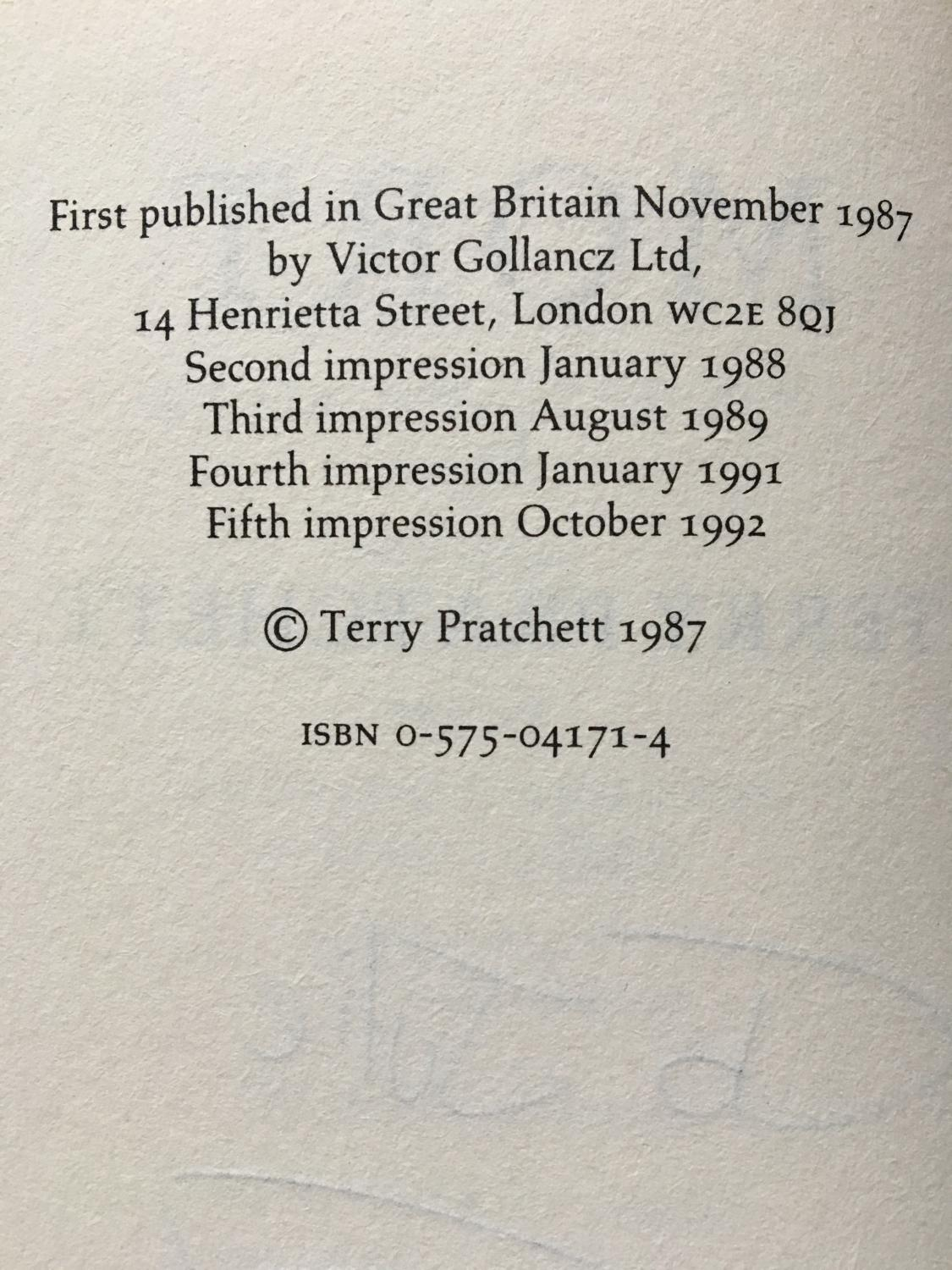 Mort by Pratchett, Terry: Gollancz 9780575041714 Hardcover, Signed ...