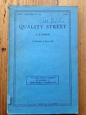 Quality street: J M Barrie
