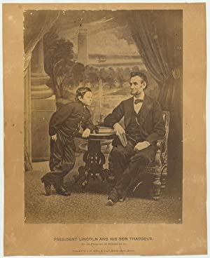 Last Formal Photograph of Lincoln, with Son