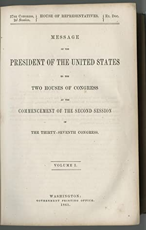 Lincoln?s 1861 State of the Union Message