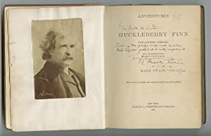 An Unusual Presentation Copy of The Adventures: SAMUEL L. CLEMENS.