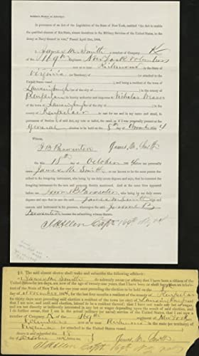 A New York Soldier?s Affidavit Allowing a Proxy to Vote in the 1864 Election