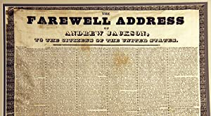 Andrew Jackson?s Farewell Address on Silk