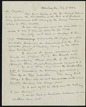 As Congress Finally Considers an Anti-Slavery Amendment,: ABRAHAM LINCOLN
