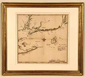 A Unique Manuscript Map of Block Island: BLOCK ISLAND SOUND