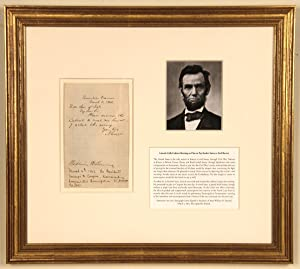Lincoln Summons His Cabinet for a Historic: ABRAHAM LINCOLN