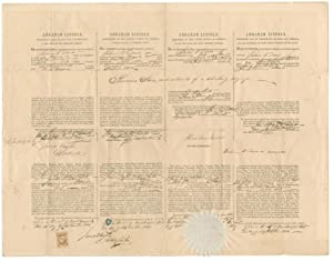 Rare Abraham Lincoln-Signed Whaling Ship's Sea Letter: ABRAHAM LINCOLN