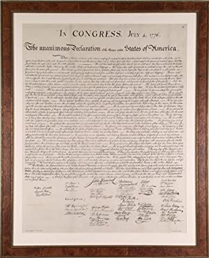 Rare French Facsimile of the Declaration of Independence