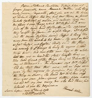 A Legal Document Signed by Hamilton?s Second in His Fatal Duel
