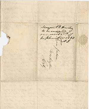 Andrew Jackson Reminds Himself to Answer a Letter from a Bereaved Friend