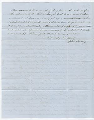 Quaker Farmer Writes to Congressman Morgan to Condemn Stephen Douglas? Nebraska Bill Allowing Sla...