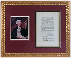 Thomas Jefferson Signed Act of Congress for Compensating Court Officers, Jurors, and Witnesses