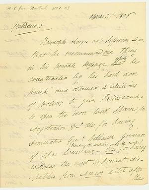 "Madison, Monroe, Talleyrand and Jefferson s ""Crimes"" and: KILLIAN K. VAN"