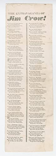 Rare Jim Crow Broadside from Father of American Minstrelsy
