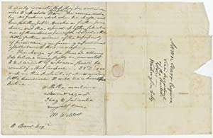 Letter to Vice President Aaron Burr From Revolutionary War Officer and Future New York Mayor Mari...
