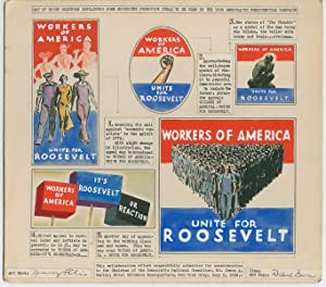 Artwork for FDR?s 1936 Reelection Campaign proposed by Artist Franz Felix