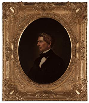 Period Oil Portrait of William H. Seward Wonderfully Executed