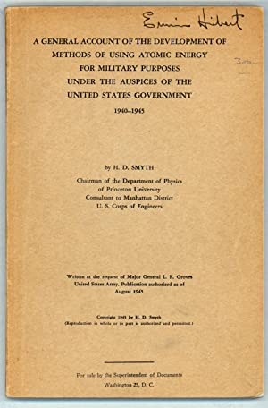 A General Account of ? Using Atomic Energy for Military Purposes