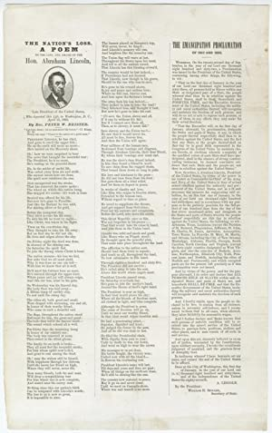 Lincoln Mourning Broadside