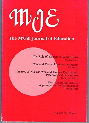 THE McGILL JOURNAL OF EDUCATION. FALL 1987: EDITOR: WILLIAM M.