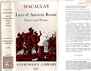 MACAULAY LAYS OF ANCIENT ROME AND MISCELLANEOUS: Macaulay, Lord.