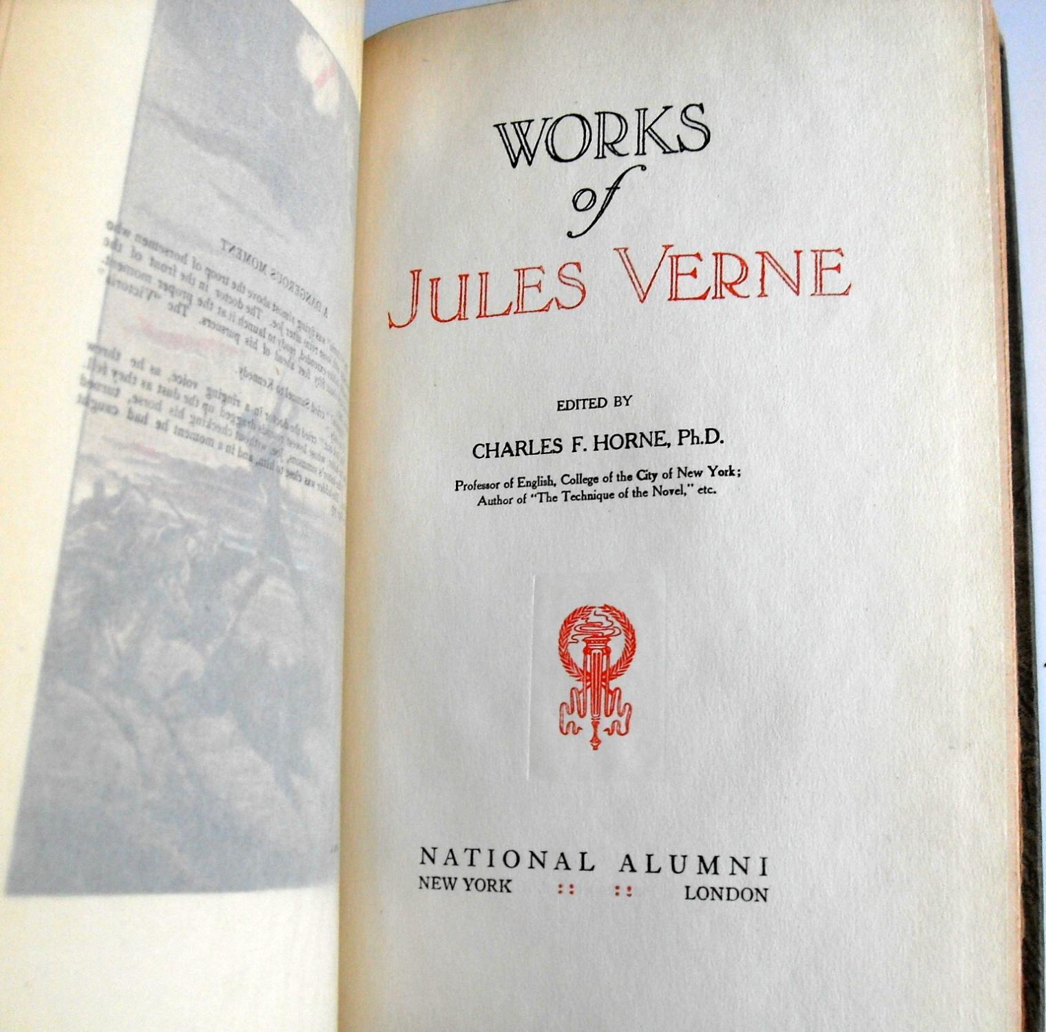 works of jules verne 10 volume limited edition set by. Black Bedroom Furniture Sets. Home Design Ideas