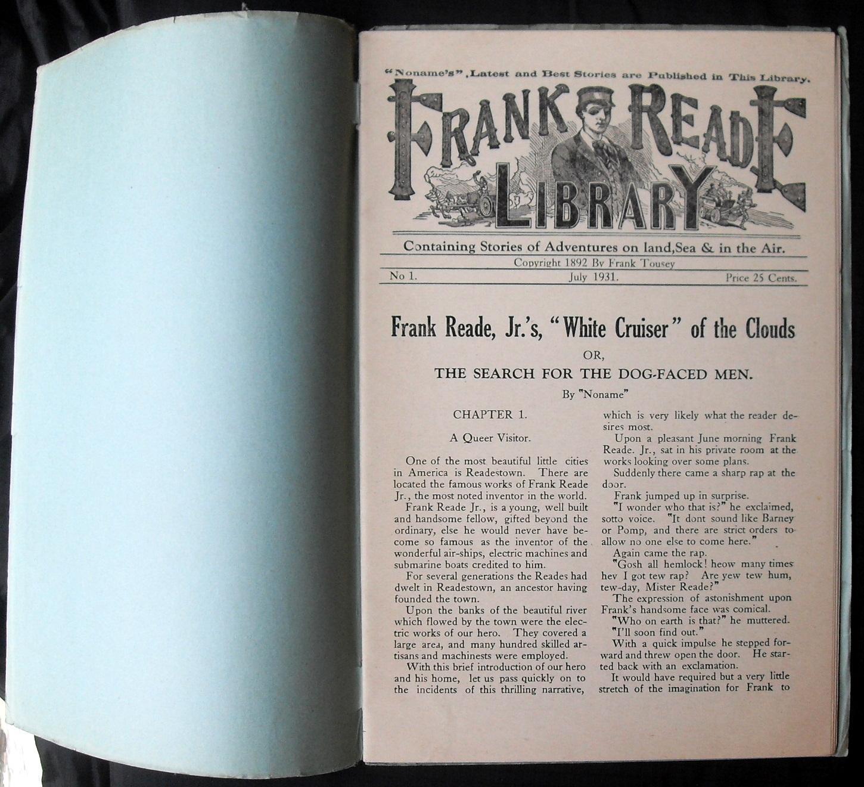 FRANK READE WEEKLY MAGAZINE #1 -- July 1931 Reprint: Noname [Luis Senarens]