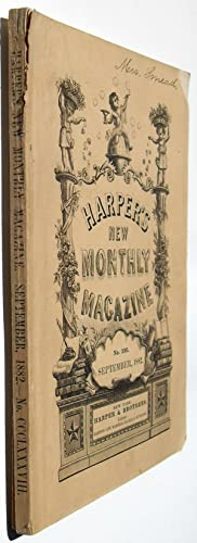 Harper's New Monthly Magazine - September 1882 #388: Ralph Waldo Emerson, Mrs. John Lillie, ...