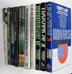 Lot of 10 Book Club Editions: Universe (3,4,5,7), Best SF of the Year #8, An Exaltation of Stars, ...